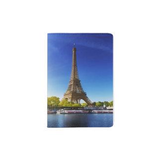 Seine In Paris With Eiffel Tower In Autumn Time Passport Holder
