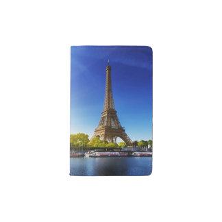 Seine In Paris With Eiffel Tower In Autumn Time Pocket Moleskine Notebook