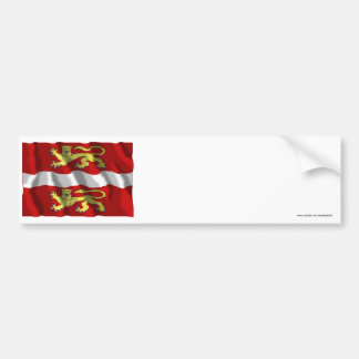 Seine-Maritime waving flag Bumper Stickers