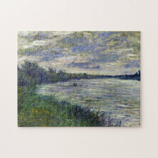 Seine near Vetheuil, Stormy Weather Monet Fine Art Puzzle
