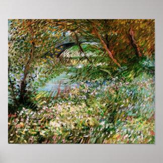 Seine, Pont de Clichy in Spring, Vincent van Gogh Posters