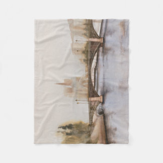 Seine River Fleece Blanket