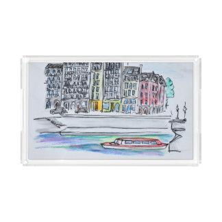 Seine River | Ile Saint-Louis, Paris Acrylic Tray