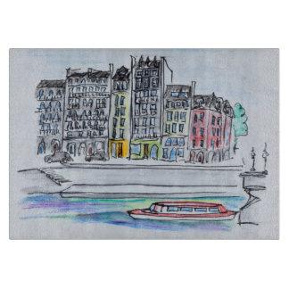 Seine River   Ile Saint-Louis, Paris Cutting Board