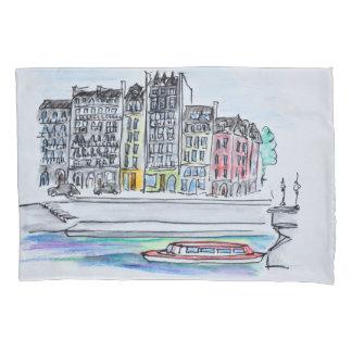 Seine River | Ile Saint-Louis, Paris Pillowcase