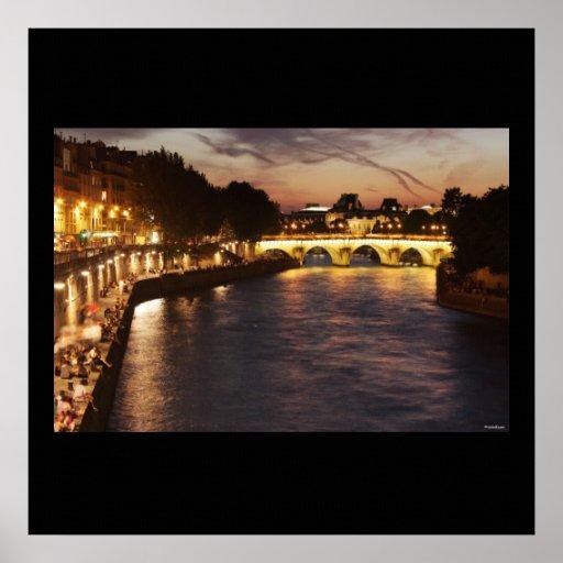 Seine River in Paris Poster