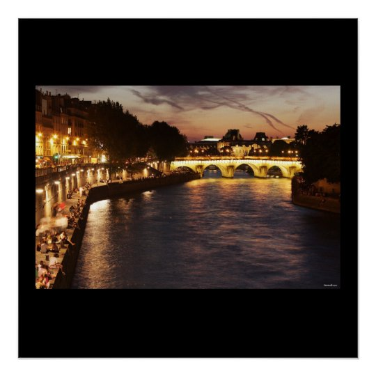 Seine River in Paris Poster