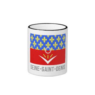 Seine-Saint-Denis flag with name Coffee Mugs