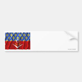 Seine-Saint-Denis waving flag Bumper Sticker