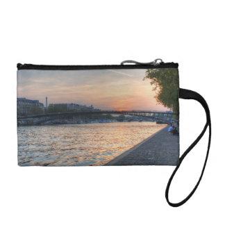 Seine sunset coin purse