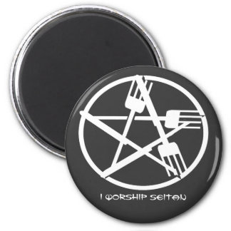Seitan Worship Magnet