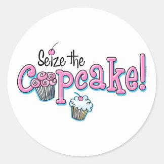 Seize The Cupcake Classic Round Sticker