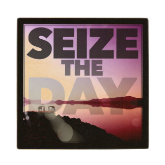 Seize The Day Maple Wood Coaster