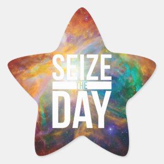 Seize the Day Nebula Star Sticker
