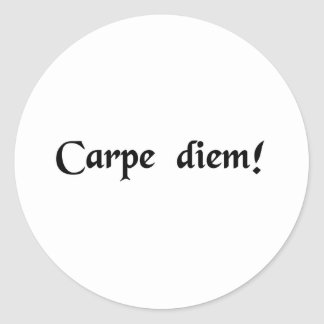 Seize the day round stickers