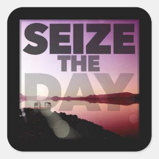 Seize The Day Square Sticker