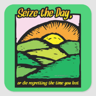 Seize The Day... Square Stickers