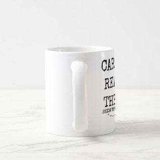 Seize the words CARPE READ THEM 11 ounce Coffee Mug