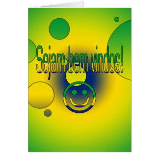 Sejam bem Vindos! Brazil Flag Colors Pop Art Cards