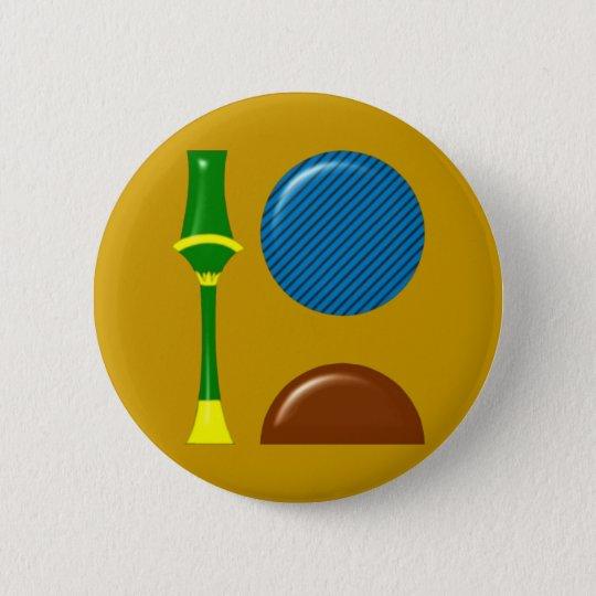 Sekhmet Sachmet hieroglyphics 6 Cm Round Badge