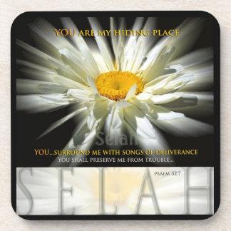 Selah Hiding Place Christian Scripture Coasters