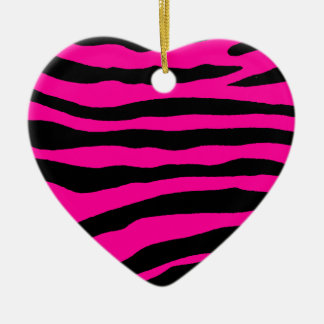 Select Your Color Zebra Stripe Christmas Ornament