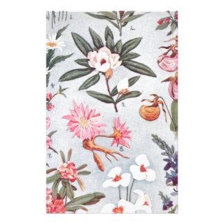 Selected State Flowers Vintage Art Illustration Personalised Stationery