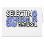 Selecting Atheism is only natural Card