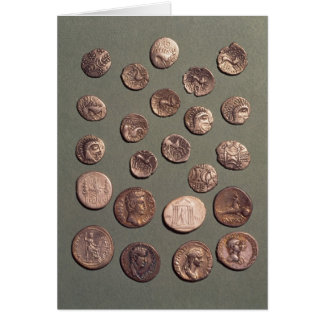 Selection Celtic and Roman  coins found Card