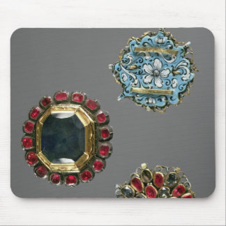 Selection of costume brooches mouse mat