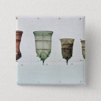 Selection of Frankish glasses, 4th-5th century 15 Cm Square Badge