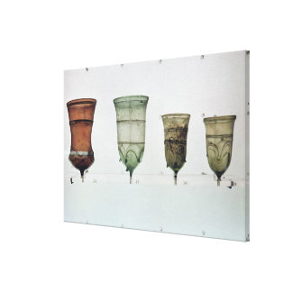 Selection of Frankish glasses, 4th-5th century Canvas Print