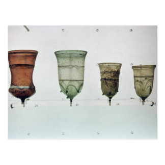 Selection of Frankish glasses, 4th-5th century Postcard