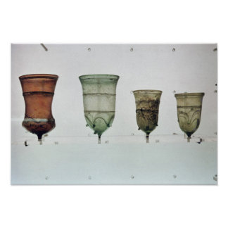 Selection of Frankish glasses, 4th-5th century Poster
