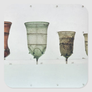 Selection of Frankish glasses, 4th-5th century Square Sticker