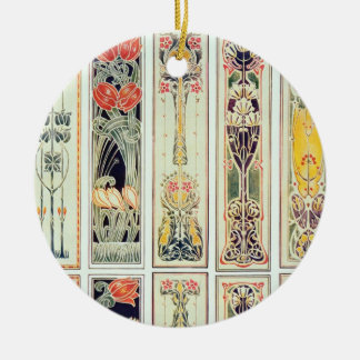 Selection of panel designs, plate IX from 'Modern Christmas Ornament