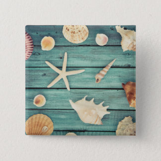 Selection Of Seashells 15 Cm Square Badge