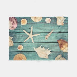 Selection Of Seashells Fleece Blanket