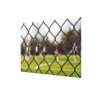 Selective focus on the net canvas print