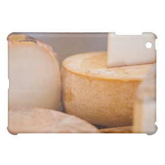 Selective focus photograph of cheeses in cheese case for the iPad mini