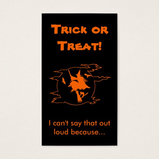 Selective Mutism Trick-or-Treat Business Card