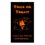 Selective Mutism Trick-or-Treat Business Cards