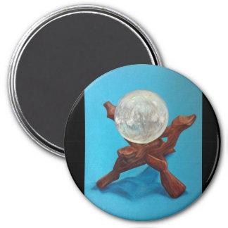 Selenite Orb 7.5 Cm Round Magnet
