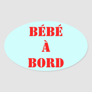 """self-adhesive """"baby on board """" oval sticker"""