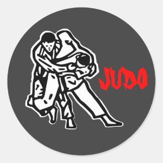 self-adhesive judo Harai goshi Round Sticker