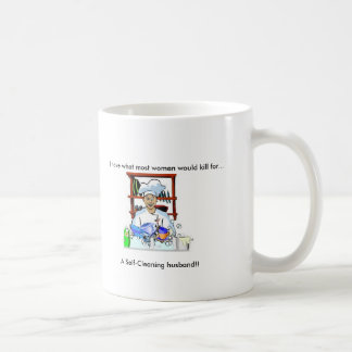 Self-Cleaning Husband (women's mug) Basic White Mug