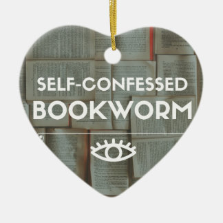 Self-Confessed Bookworm Christmas Ornament