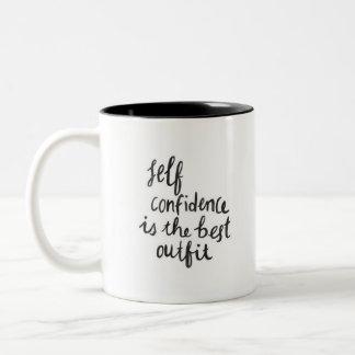 """Self-Confidence"" - Black Two-Tone Mug"