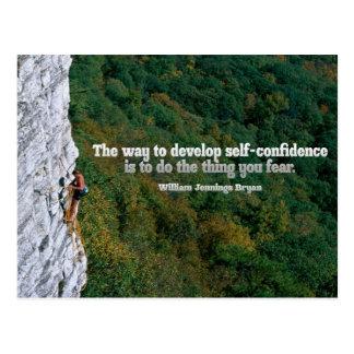 Self Confidence Inspirational Post Card