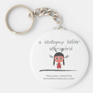 self-contorol-girl basic round button key ring